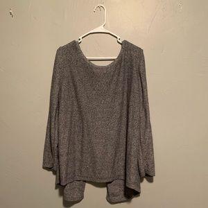 Split back sweater